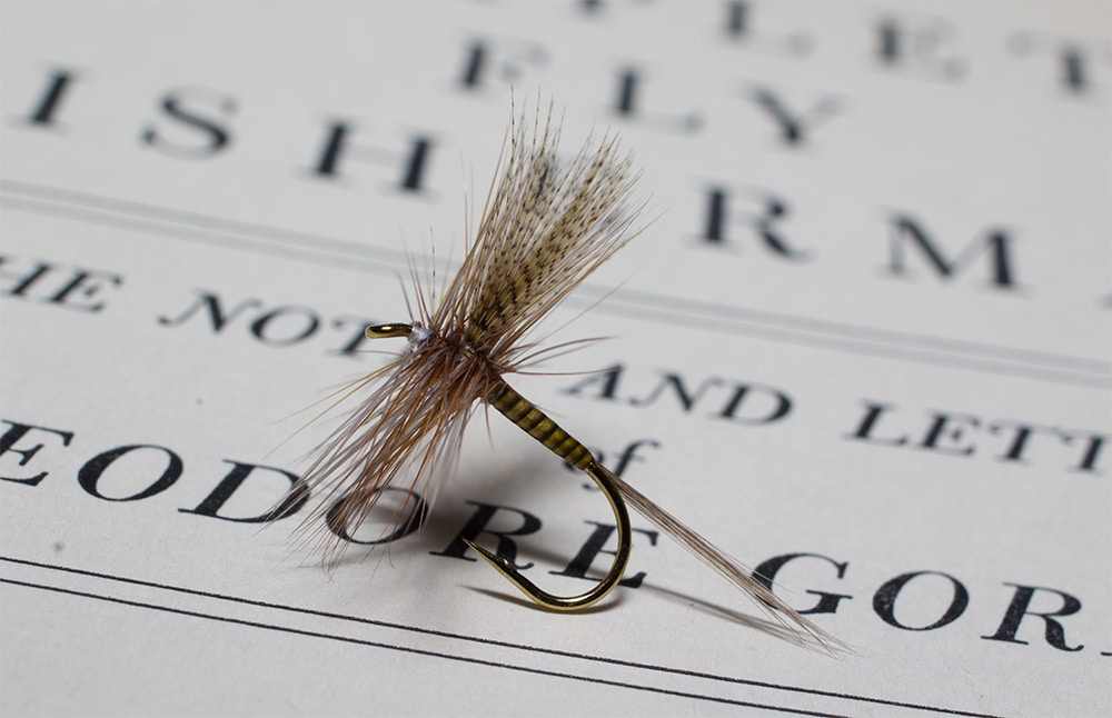Olive Upright Catskill Style Dry Fly