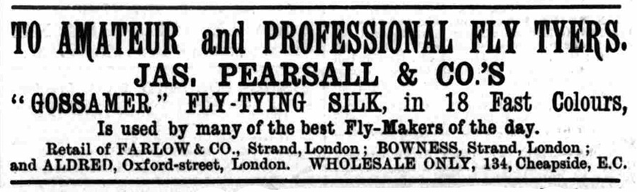 Pearsall's Gossamer Flytying Silk Advert